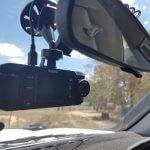 dash cam on window