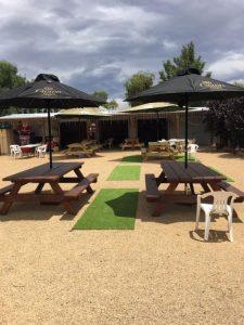 Tungamah pub beer garden