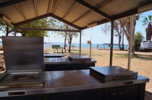 Dampier Caravan Park BBQ opposit the water