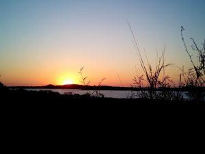 Dampier Caravan Park sunset WA