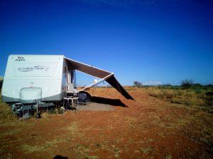 caravan on cattle station
