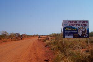 Pardoo Station caravan park entry