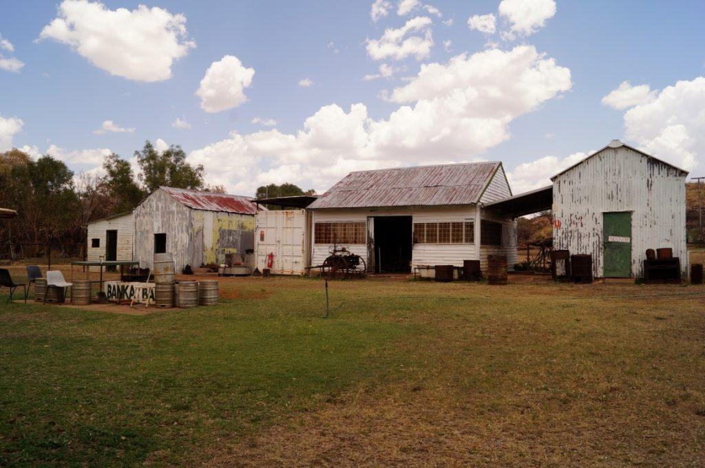 Banka Banka Station northern territory campground shed