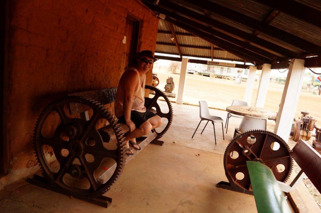 Banka Banka Station Northern Territory home made wooden seating