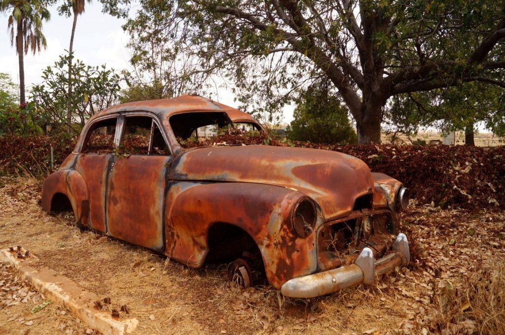 Banka Banka Station Northern Territory Memorabilia old car
