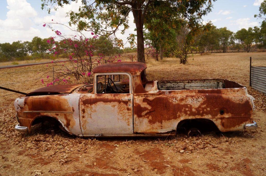 Banka Banka Station Northern Territory Memorabilia old rusty car