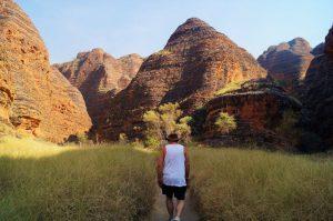 walking through the Bungle Bungles domes