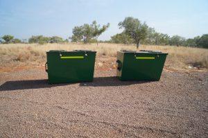 Bungle Bungles Spring Creek Free Camp bins