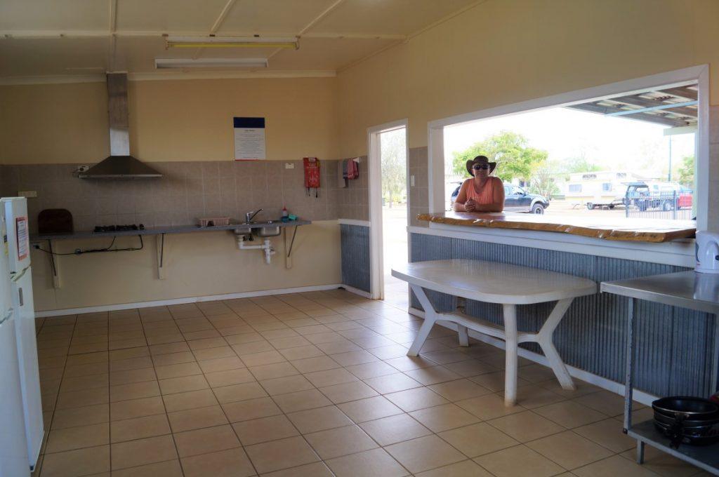 Longreach tourist park kitchen