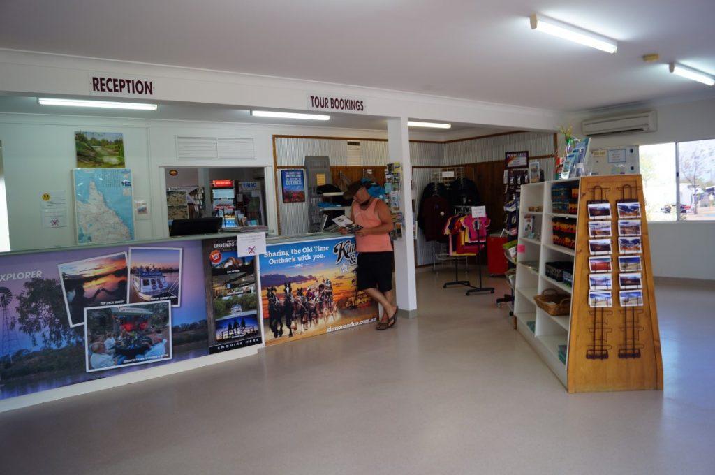 Longreach tourist park reception