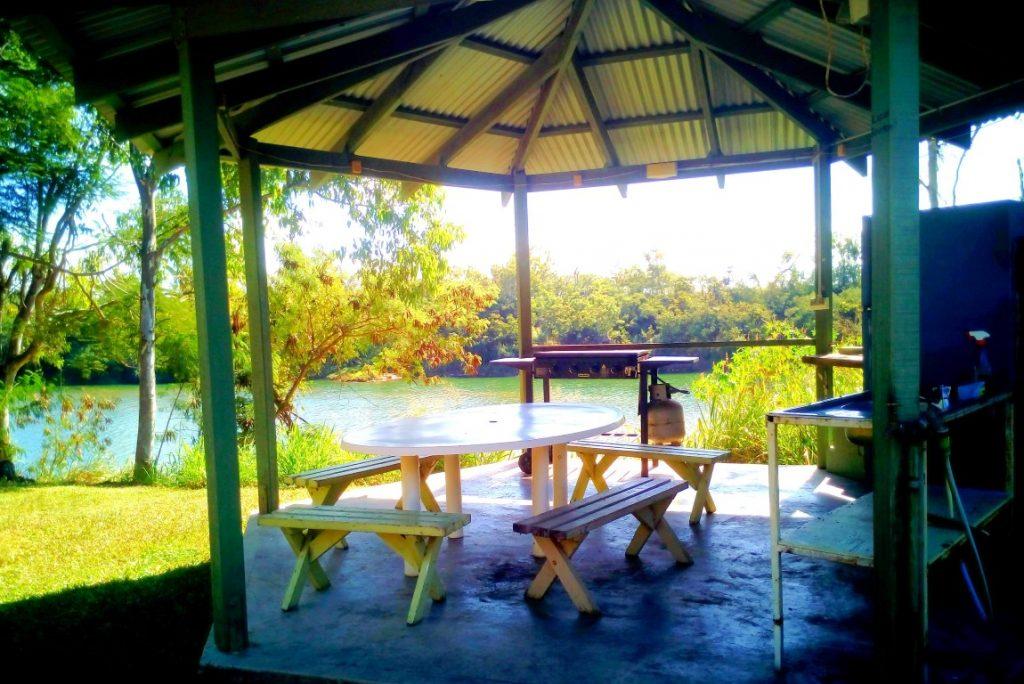 O'Connell River Caravan Park camp kitchen