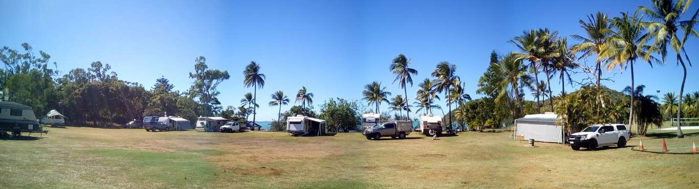 Halliday Bay Golf Club Queensland camping RV caravan sea view