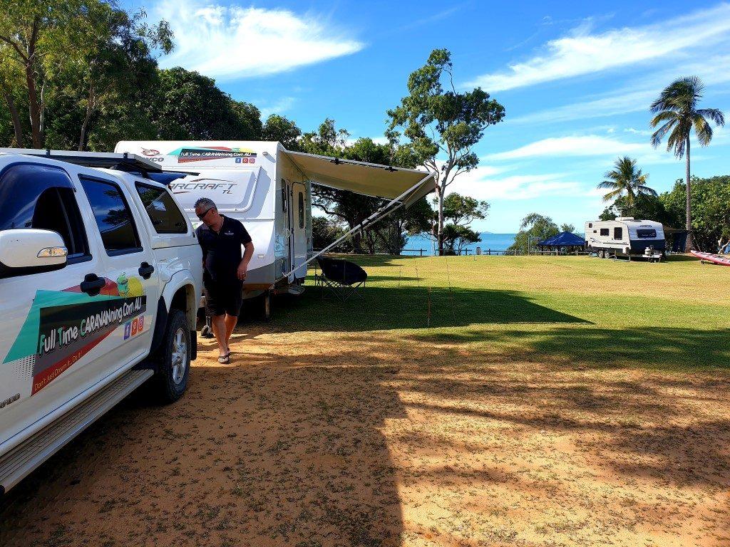 caravan by the beach