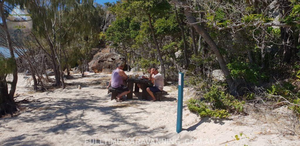 Steens beach Whitsundays Great Barrier Reef Queensland Australia seating