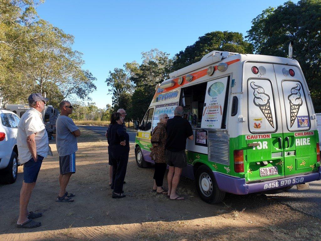 ice cream van Calliope-River-free-camp