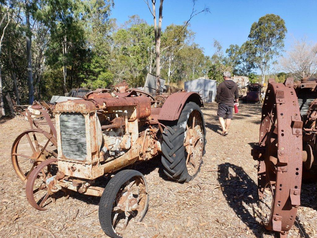 Calliope-River Historic village rusty tractor