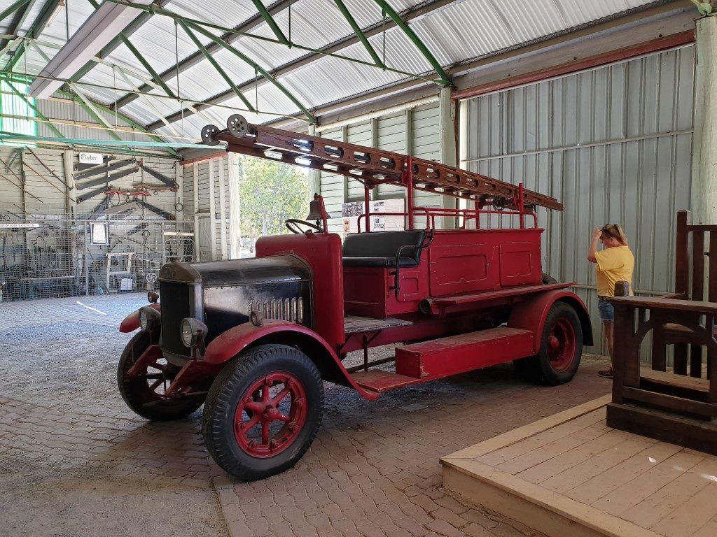 Calliope-River Historic village fire truck