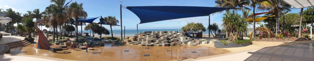 Yeppoon Queensland beach front water play