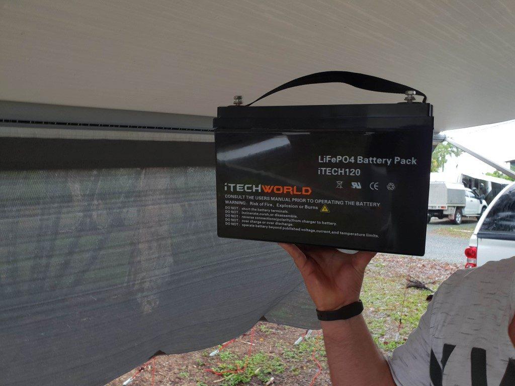 light lithium battery for caravan