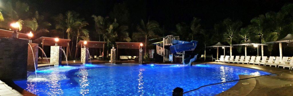 Big-4-helensvale-pool at night
