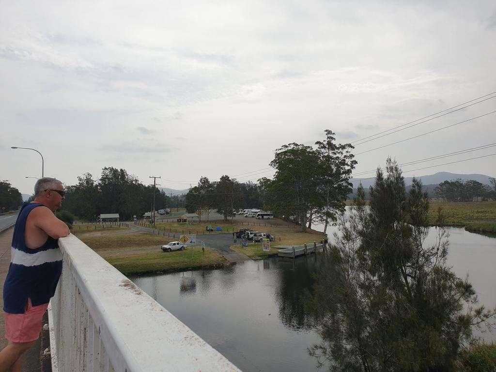 Bulahdelah Lions Park bridge river view