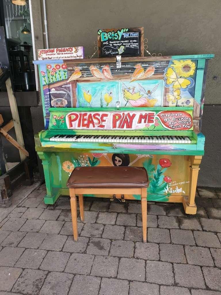 Piano at Eumundi market sunshine coast queensland