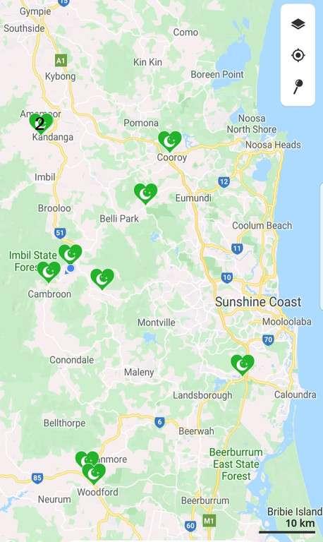free & cheap camps sunshine coast