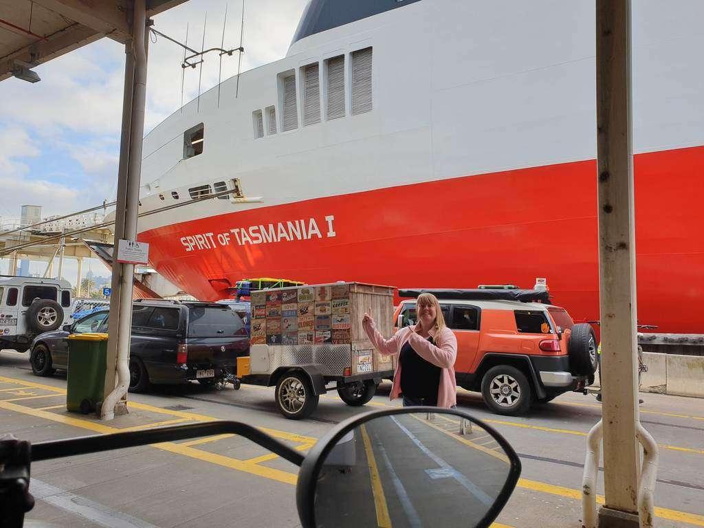 Caravans boarding the Spirit Of Tasmania