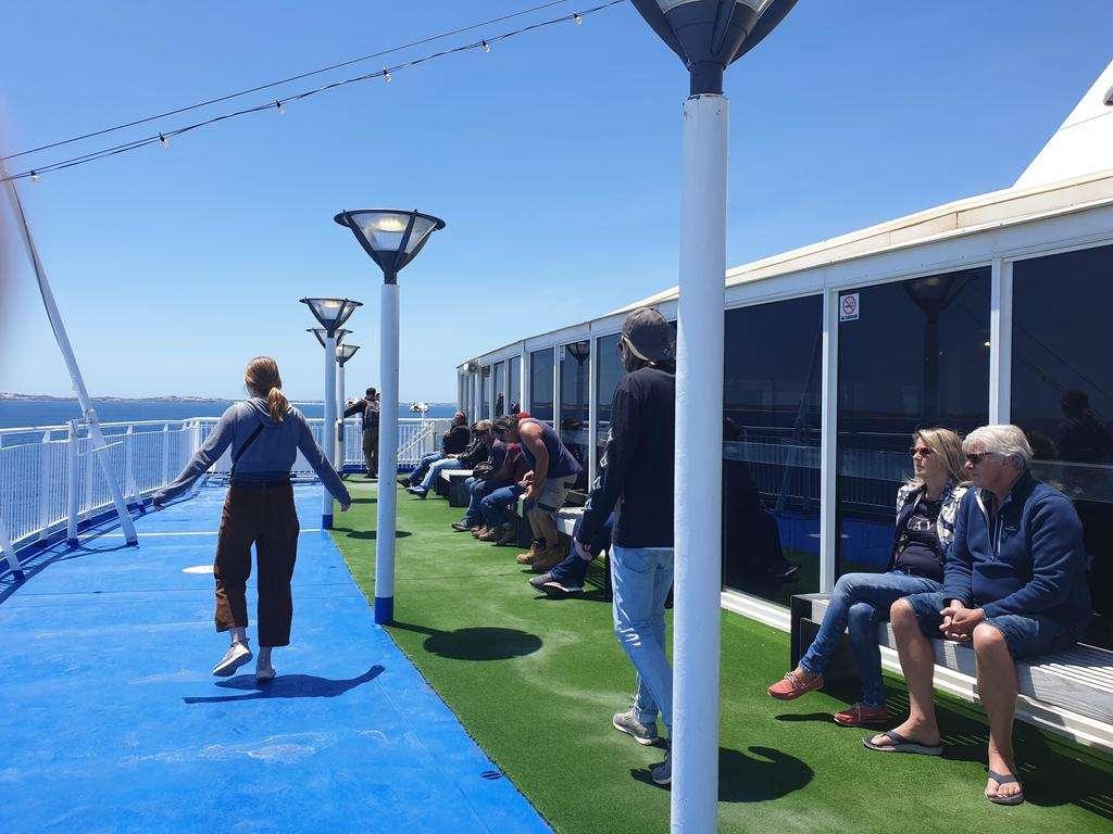 Spirit Of Tasmania Tasmanian on deck
