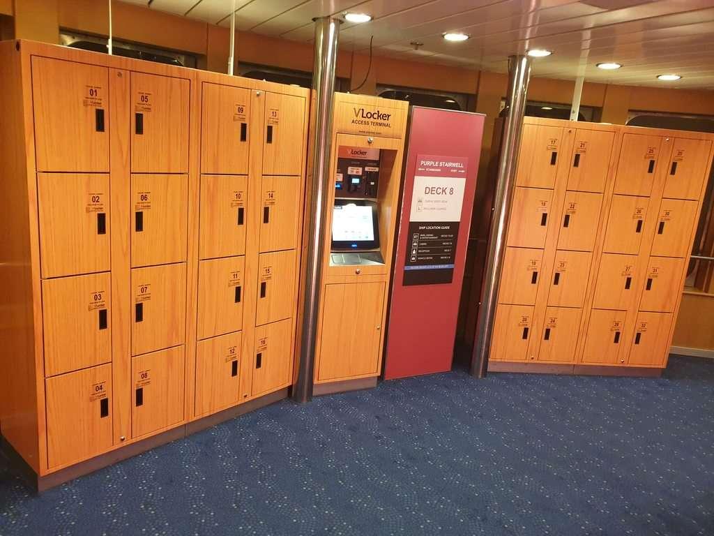 Spirit Of Tasmania lockers for rent