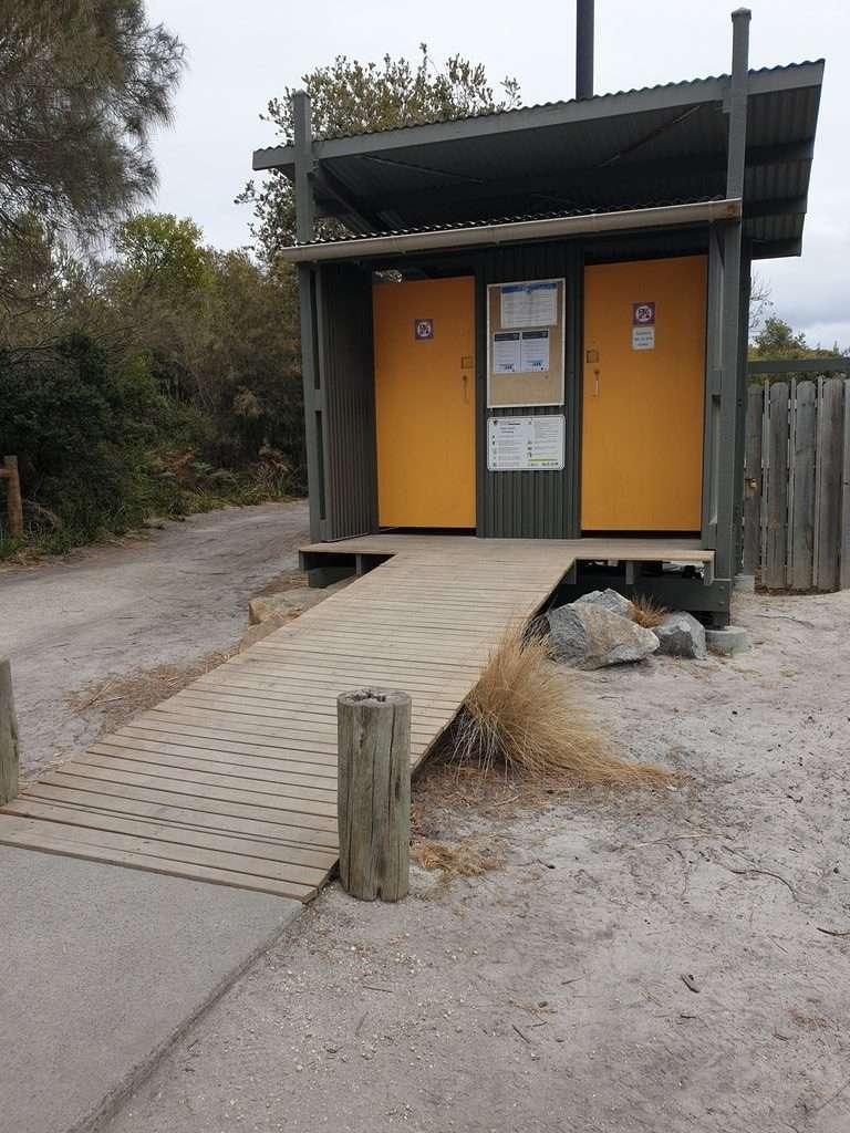 Toilets at Camping at Bay Of Fires cosy corner north