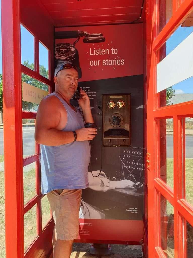 Ross Tasmania phone box
