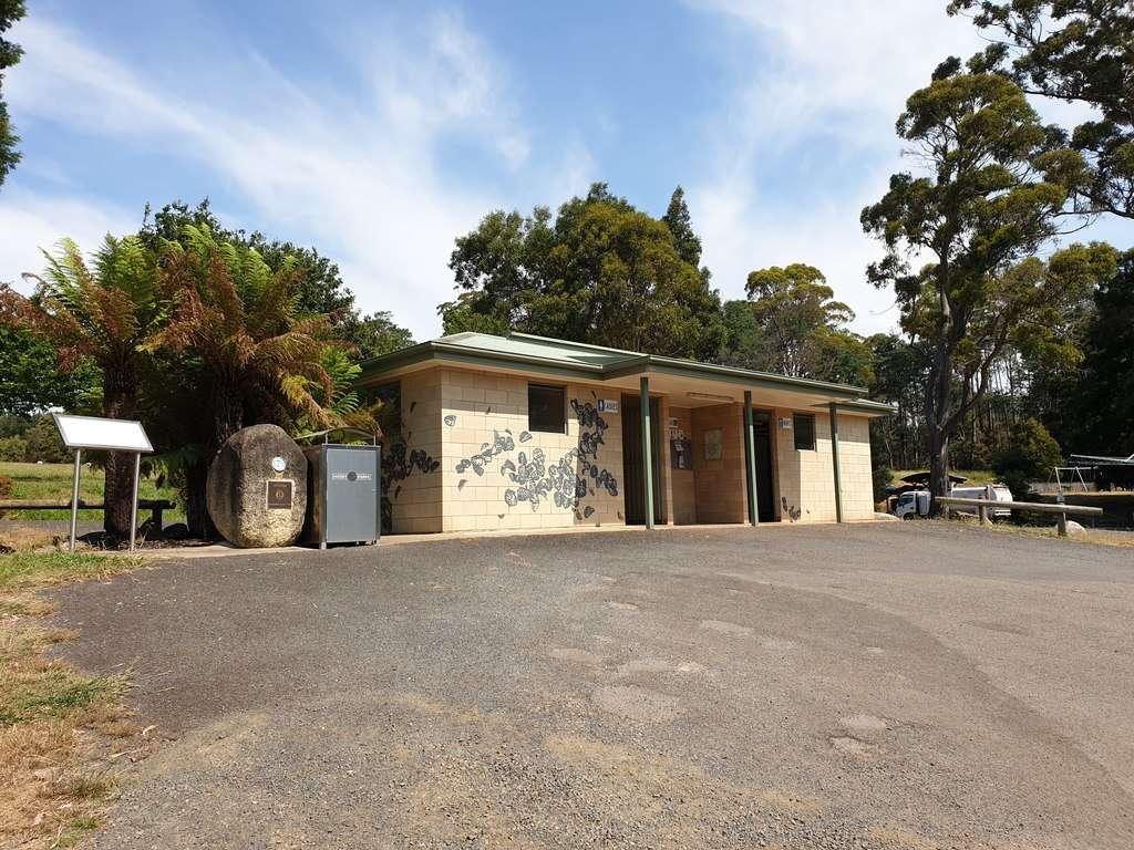 Toilets at Scottsdale Northeast Park Tasmania