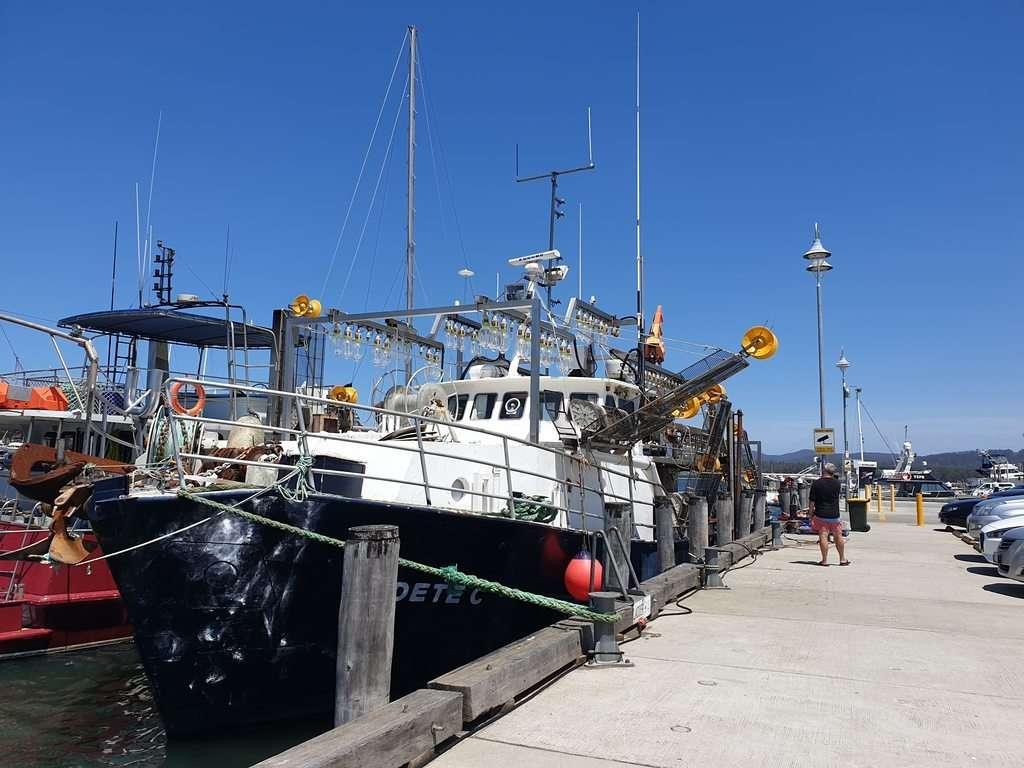 boat at  Triabunna Wharf  Tasmania