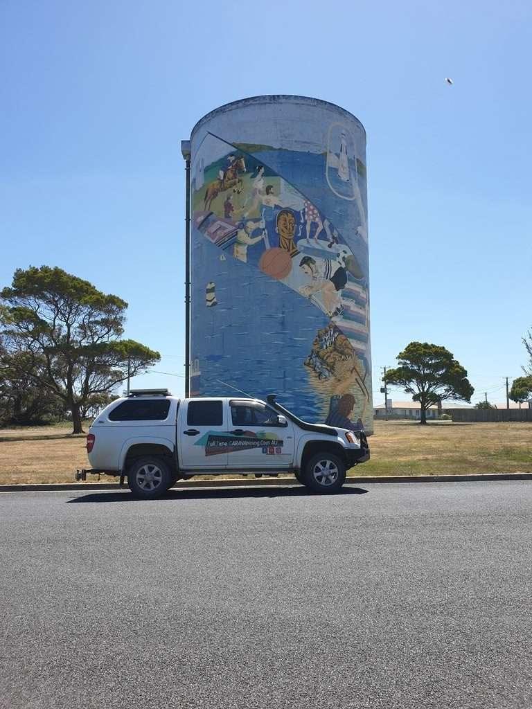 Silo art George town Tasmania