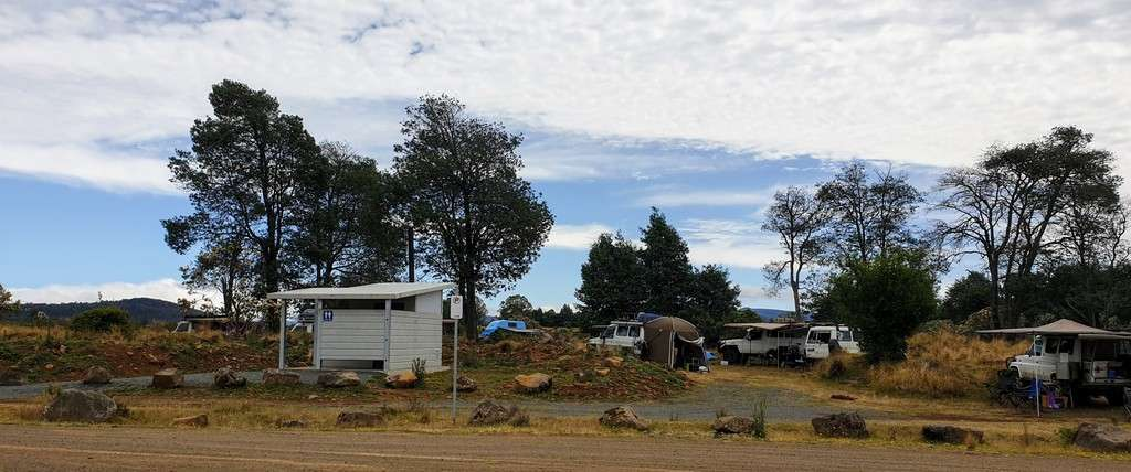 Brady's Lake Tasmania camp by the water toilets