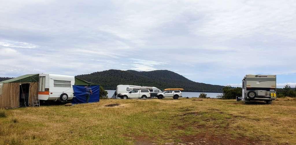 Free Camps In Tasmania Brady's Lake Tasmania camp by the water main area