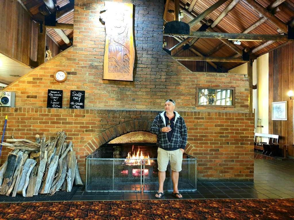 Derwent bridge wilderness hotel fireplace