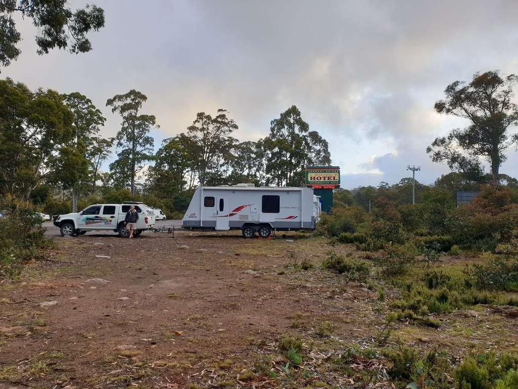 camping Derwent bridge wilderness hotel