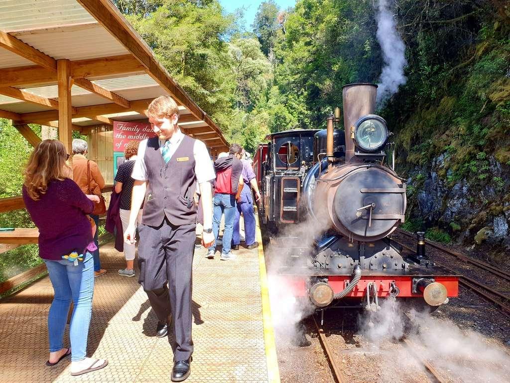West Coast Wilderness Railway steam train Queenstown Tasmania