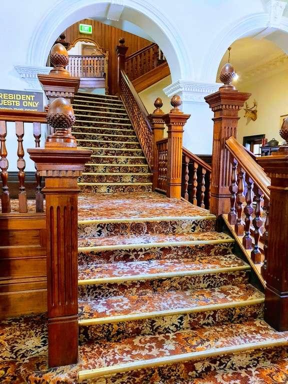 Empire Hotel Queenstown Tasmania Staircase