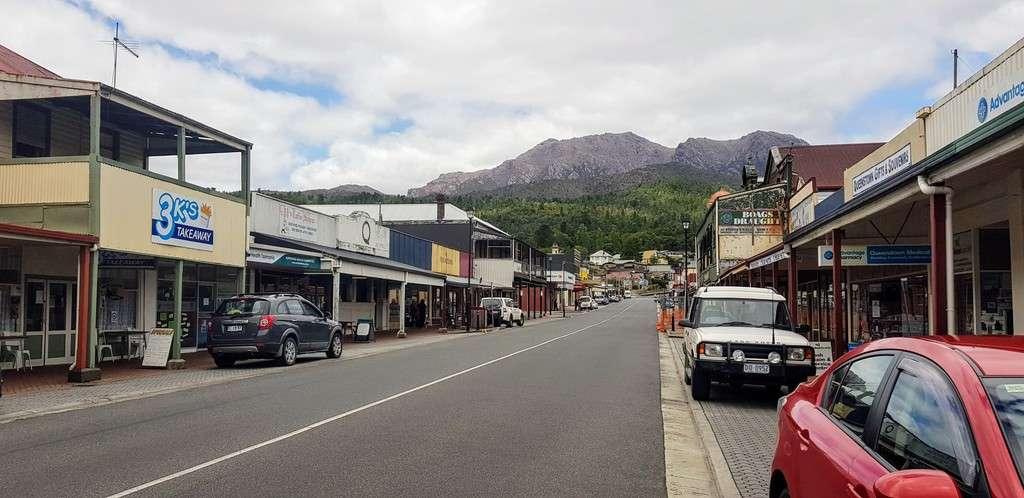 Queenstown Tasmania Main Street shops
