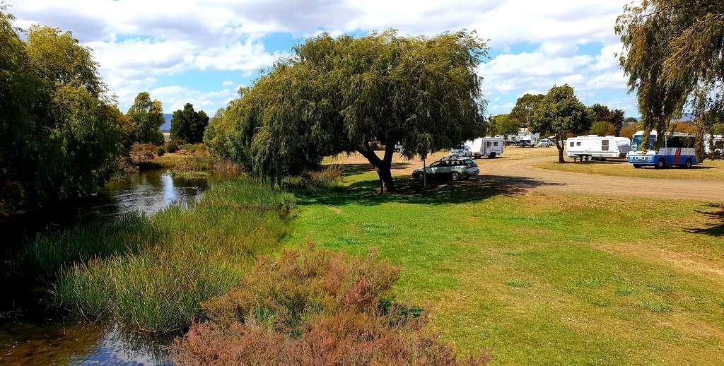 Free Camps In Tasmania Blackburn Park Rest Area Campbell Town Tasmania camping