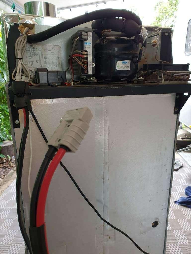 caravan fridge repair re gas and new wire