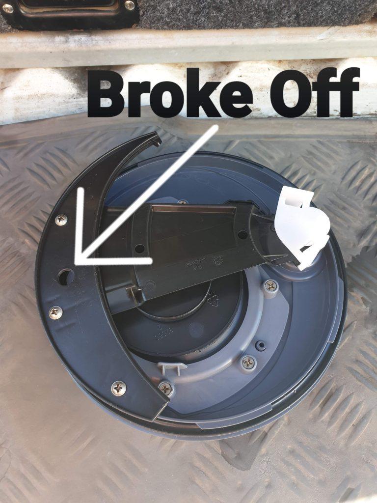 caravan cassette toilet broken fixed new top lid not closing