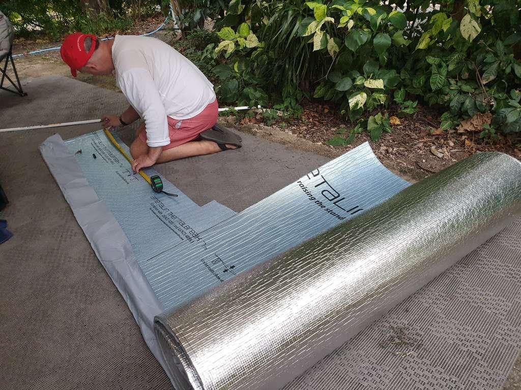 insulating 218 liter Waeco RPD218 compressor fridge for caravan maintenance