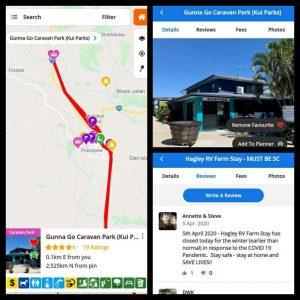 Travel app full time caravanning