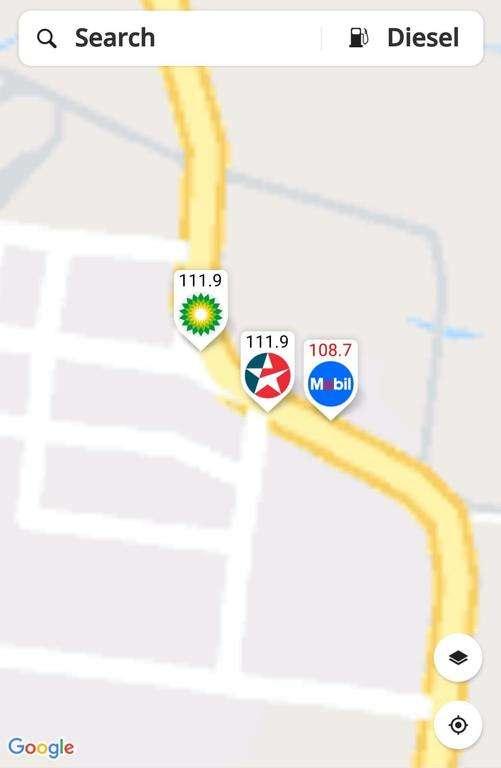 fuel map travel app