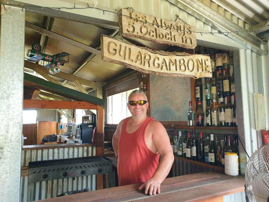 Gulargambone Caravan Park NSW camp kitchen bar