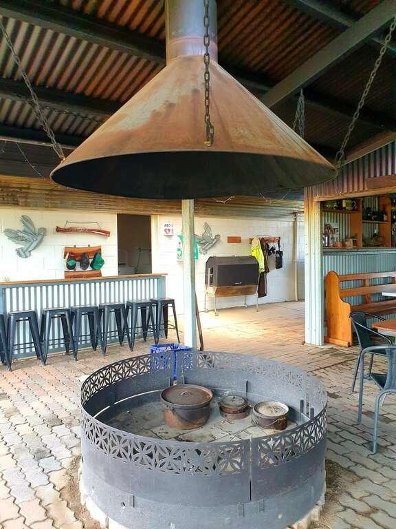 Gulargambone Caravan Park NSW camp kitchen bar fire pit